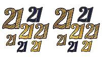 Beistle 59987 14ピース 21インチ フォイルカットアウト アソートサイズ (ネイビーブルー/ゴールド)