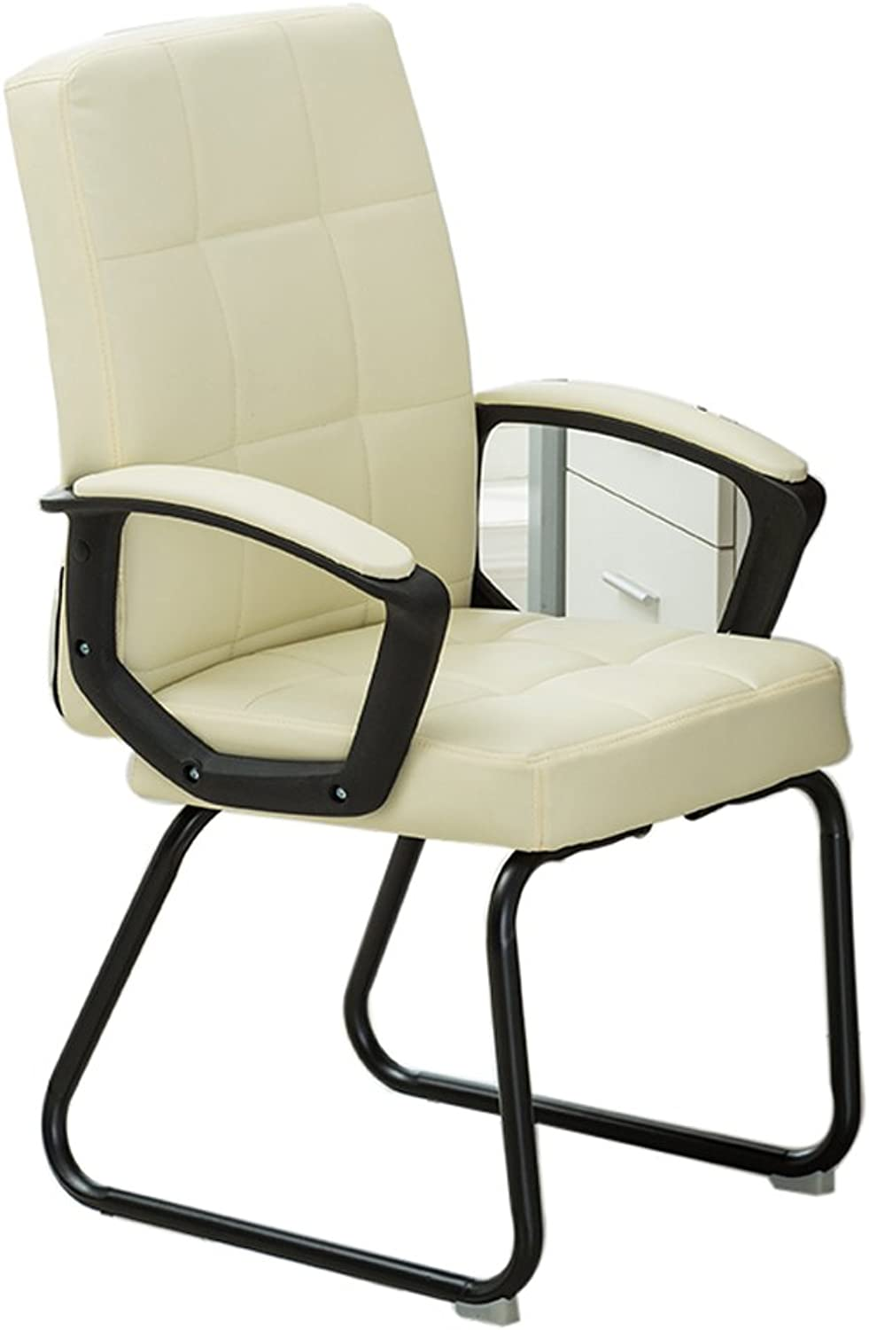 MENA UK Computer Chair Home Staff Office Chair Bow Conference Chair Student Bedroom Chair Simple Boss Chair (color   White, Size   A)