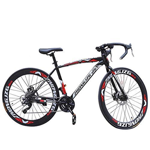 26 in Mountain Bike, Aluminum Full Suspension Road Bike 21 Speed Disc Brakes 700c MTB Bikes for Men/Women Commuters