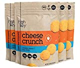 Low Carb, Gluten Free, High Protein Healthy Cheese and Egg Snack - Savory, Keto & Diet Friendly Cheese Crunch with Natural Ingredients, Variety Pack of 4, 2.25oz Bags (Cheddar, 4, 2.25 OZ Bags)
