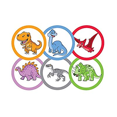 75 Pack Toilet Targets for Boys, Potty Training Flushable Dinosaur Targets, 2 X 2 Inch Paper Tinkle Targets for Boys, 100% Biodegradable and Sewage Safe, Pee Targets for Boys Training by Corner Canyon Products