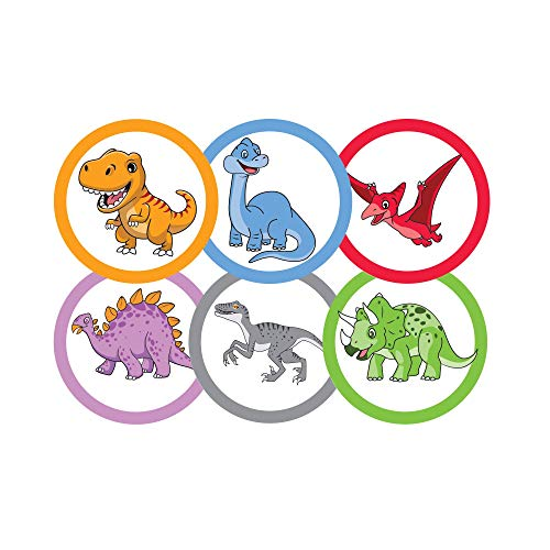 75 Pack Toilet Targets for Boys, Potty Training Flushable Dinosaur Targets, 2 X 2 Inch Paper Tinkle Targets for Boys, 100% Biodegradable and Sewage Safe, Pee Targets for Boys Training