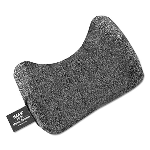 IMAA10166 - IMAK PRODUCTS Mouse Wrist Cushion ,Heather Gray ,5.75 Inches