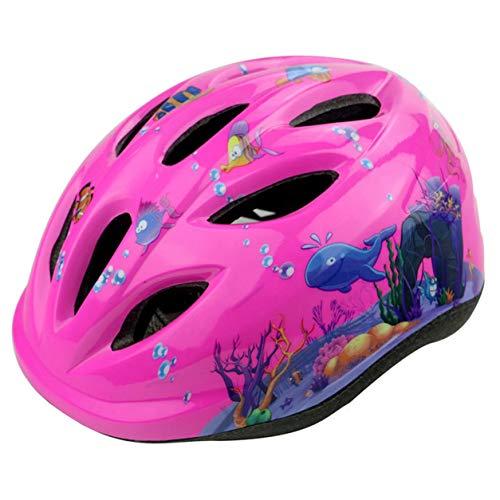 Color Yun Ciclismo para niños, Scooter Plegable para niños, Bicicleta, Casco de Ciclismo, patín BMX, protección Segura Fija, niños y niñas