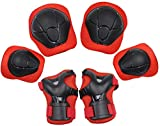 KUYOU Child Kids Protective Gear Set,Knee and Elbow Pads with Wrist Guards Toddler for Multi-Sports...