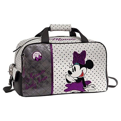 Disney Minnie Bows Sac de Voyage, 45 cm, 25,87 L, Blanc