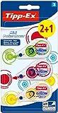 Tipp-Ex Mini Pocket Mouse Cintas correctoras - 6 m x 5 mm, Varios Colores de Dispensador, Pack de 2+1'
