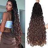 Passion Twist Crochet Hair 28 Inch Faux Locs Crochet Braid Hair Ombre...