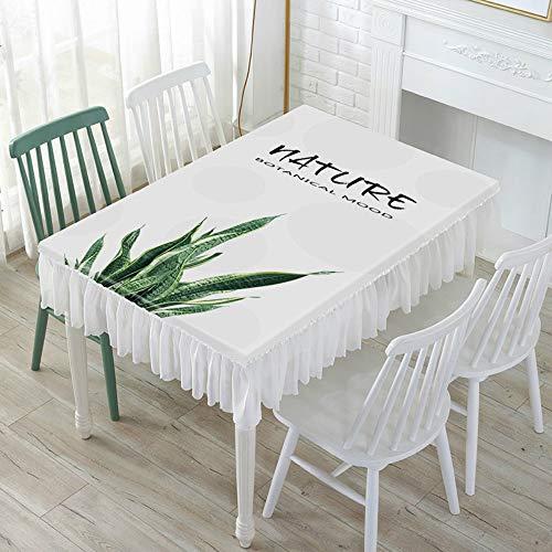 YOUYUANF Tischdecke waschbare Gartentischdecke Esstisch Schutzfolie PVC Kunststofftischdecke120x60x25 cm