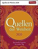 Quellen der Weisheit Wissenskalender. Tischkalender 2020. Tageskalendarium. Blockkalender. Format 12,5 x 16 cm - Harenberg