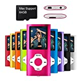 Mymahdi – Digital, Compact et Portable Lecteur MP3/MP4 (Max Support 64 GB) avec Photo Viewer, E-Book Reader et Radio FM Enregistreur Vocal et vidéo vidéo en Rose …