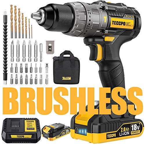 professionnel comparateur Cordless brush drill / driver, TECCPO hammer drill (60 Nm), quick charger in 30 minutes, … choix