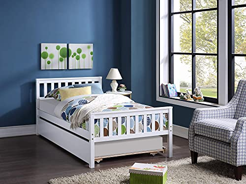 Platformbed met onderschuifbed, minimalistisch, stijlvol houten frame met twee eenpersoonsbedden, eenvoudig te installeren, geschikt voor kinderen, tieners en volwassenen (grijs)