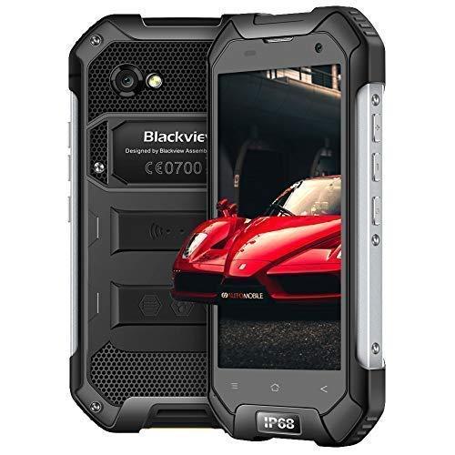 Blackview BV6000 Móvil Resistente (4G Smartphone Dual Sim, 3 + 32GB ROM, 4500 mAh Batería, 13 + 5MP Cámara IP68 Impermeable, Android 7.0,4.7 '' HD Pantalla, WiFi/GPS/NFC/Bluetooth) Negro