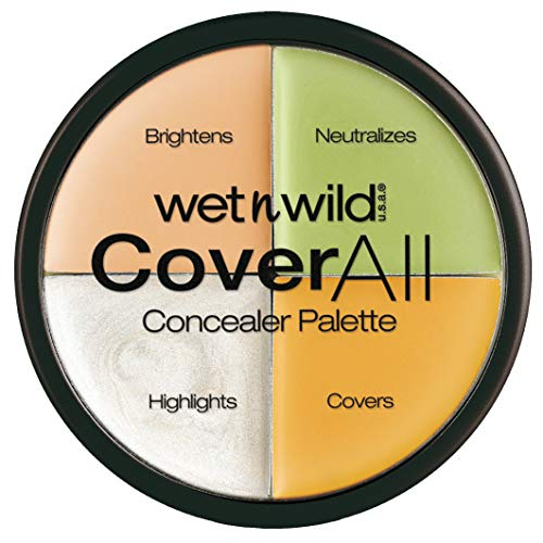 Wet n Wild - CoverAll Concealer Palette - Paleta de Correctores, Perfecta para Ocultar Imperfecciones - Countoring Maquillaje - 4 colores diferentes - 1 Unidad