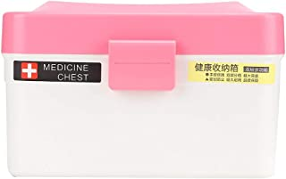 Home Medicine Chest Medicine Storage Box, First Aid First Aid Kit, for Home Family Bathroom(red)