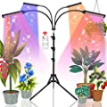 Grow Lights for Indoor Plants, Full Spectrum 420 LED Plant Lights for Seed Starting, 180W Plant Growing Lamp, Auto On/Off Timer 4/8/12 H Auto Cycles, 9 Dimmable Levels, Adjustable Gooseneck