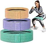 La Banda de Resistencia de Tela con Correa de algodón elástico de Primera Calidad y la Tela de Goma Pueden Mejorar el Tono de los músculos de Las piernas y los glúteos en el hogar Yoga Fitness
