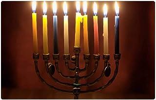 LESGAULEST Doormat Floor Rug/Mat (23.6 x 15.7 inch) - Hanukkah Judaism Candlestick Candles Israel