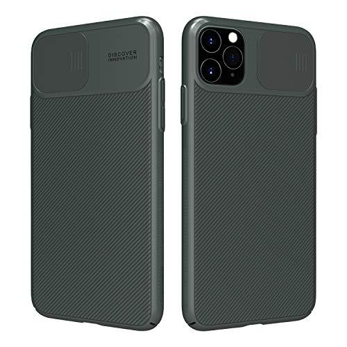 Nillkin Custodia per iPhone 11 PRO Case, CamShield Series [Protezione Fotocamera] Bumper Protettiva Ultra Sottile Leggero Custodia Anti Graffio Hard PC Case Back Cover per iPhone 11 PRO (Verde)