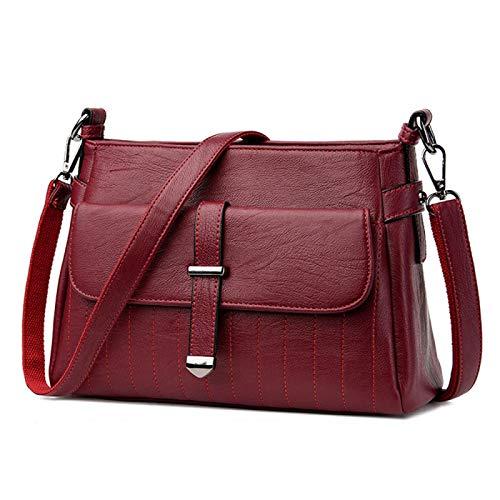 QHES Nuevos bolsos de lujo de una sola flecha, bolsos de cuero para mujer, bolsos bandolera de diseñador, bolso informal para mujer