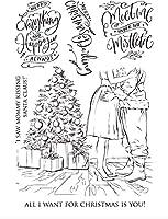 クリスマスツリーの脚が透明クリアシリコンスタンプ/DIYスクラップブッキング用シール/フォトアルバム装飾用クリアスタンプシートB0413