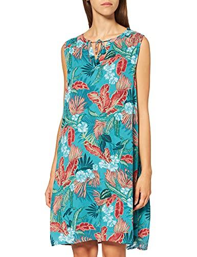 Cecil Damen 142966 Kleid, cool Lagoon Blue, XXL