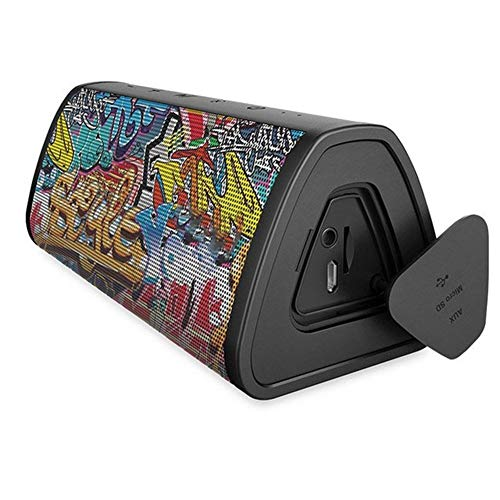 L-sister Altavoz Bluetooth Altavoz inalámbrico portátil Sistema Inteligente 10W Música Estéreo Surround Impermeable Altavoz Exterior Nuevo Modelo (Color: Graffiti Negro)
