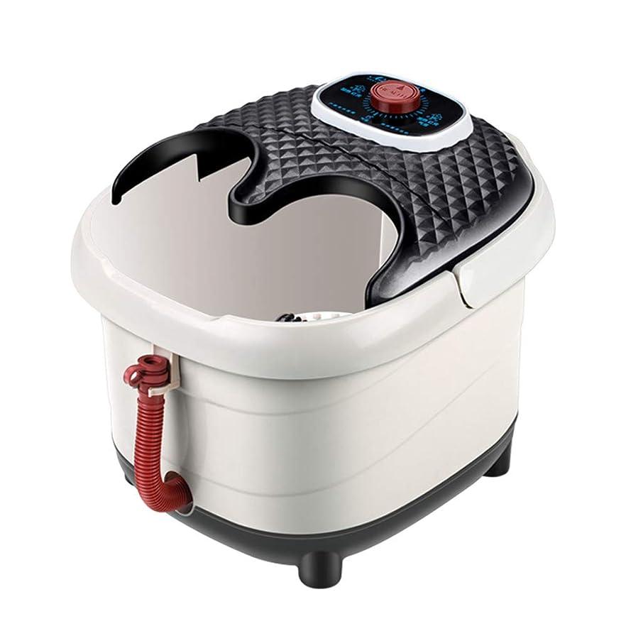 耐える強制間lquideフットスパとマッサージフットスパ風呂マッサージとヒートバブル振動12マッサージローラーペディキュア赤外線ヒーター療法のためのフットケア