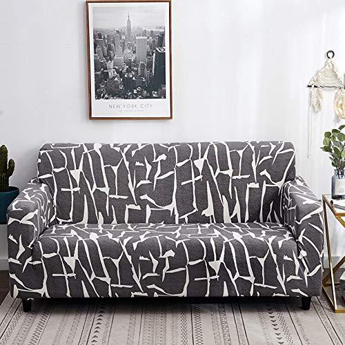 Protector de Muebles-Funda elástica para Sala de Estar Funda de sofá de Esquina Funda de sofá elástica A12 4 plazas