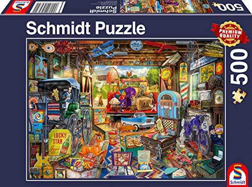 Schmidt Spiele 58972 Garagen-Flohmarkt, 500 Teile Puzzle, bunt