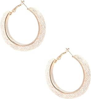 GUESS Factory Women's Mesh Hoop Earrings, NS