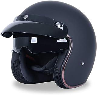 Romacci Capacete de motocicleta Capacete semicoberto para todas as estações Capacete de segurança para homens e mulheres C...