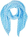 Tommy Hilfiger Plisse Monogram Scarf Bufanda, Azul (Sail Blue Cyt), Talla Única (talla del fabricante: OS) para Mujer