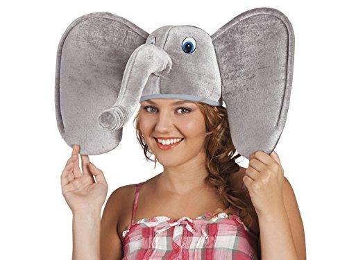 Alsino Tierhut Karneval Chicken Schaf Mütze Schweinemütze Wolfhut Fasching Kopfbedeckung, wählen:Elefant 99949