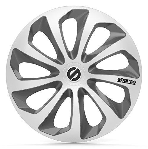 SPARCO SPC1373SVGR Sicilia 4 Stück Radzierblenden, Silber/Grau, 4 Stück, 13