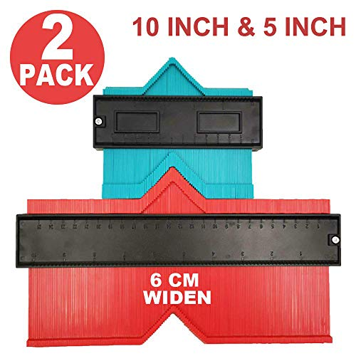 Relitec Konturenlehre Duplikator, einfache Form, Konturenlehre, sofortige Vorlage für gebogene und ungewöhnliche Formen, einfaches Master-Werkzeug zum Schneiden, 2er-Set (12,7 cm und 25,4 cm breit)
