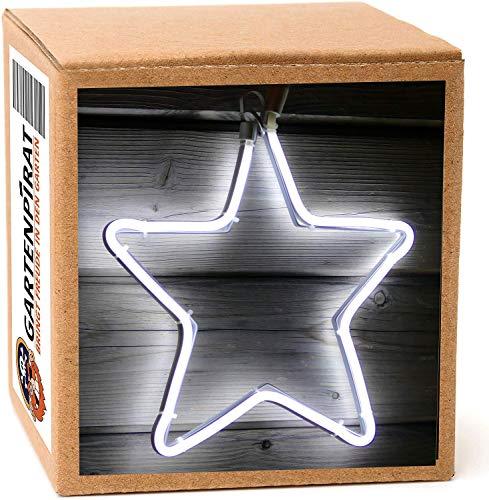 Neon-Stern 30x30cm 120 LED kaltweiß zum Aufhängen für Weihnachten außen Fenster