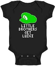 Little Brothers Get Luigi Gaming Infant Baby Boy Girl Bodysuit