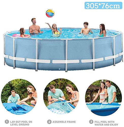 XLBHSH Swimming Pool, Thick Oversized Bracket Paddling Pool Round Family Children