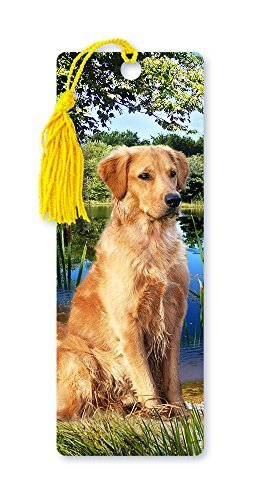 Dimension 9 3D Lenticular Bookmark with Tassel, Golden Retriever, Pet Breed Series (LBM042) by Dimension