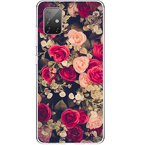 Funda para Samsung A71 / A71 5G Clear Silicona Ultra Delgado Anti Choque Carcasa Galaxy A71 Flor Mar Paisaje Mariposa Geometría Patrón Estuche A71 5G Suave Gel TPU Caja (A71, 2)