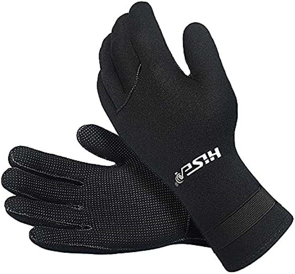 3mm Neoprene Diving Gloves, Wetsuit Gloves Thermal Anti-slip Scuba Gloves for Men Women Diving Snorkeling Sailing