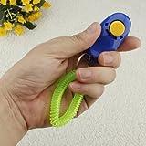 FamilyMall Hundeclicker/Clickergerät, zum Gehorsamkeitstraining, mit Handgelenksgurt, Blau