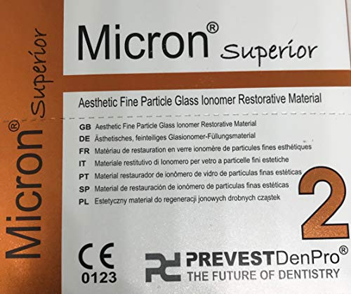 Radiopaque Glass Ionomer Dental Cement A2 Natural Shade for permanent dental restorations.