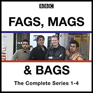 Fags, Mags, and Bags: Series 1-4     The BBC Radio 4 Comedy Series              By:                                                                                                                                 Sanjeev Kohli,                                                                                        Donald McLeary                               Narrated by:                                                                                                                                 Donald McLeary,                                                                                        full cast,                                                                                        Sanjeev Kohli                      Length: 11 hrs and 11 mins     79 ratings     Overall 4.8