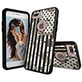 Unnito iPhone 7 Plus Case – Hybrid Commuter Case | Slim Cover with Hard Shell Design and Soft Inner Layer Compatible with iPhone 8 Plus Black Case - Desert Camo American Flag