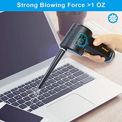 Cordless Air Duster for Computer, Better Choice for Air Can Duster, Compressed Air Can, Air Canister, Spray Air Duster for Computer, w/ 6000mAh Rechargeable Battery, 10W Fast Charging, 33000 RPM Photo #3