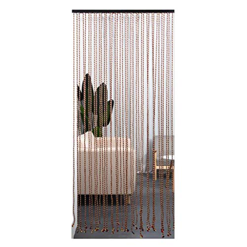Zcyg Fliegenvorhang Tür,Fliegengitter Tür, Vorhänge Bildschirm Raumteiler Fringe-Panel Tassel Vorhang for Türrahmen, Türen, Wohnkultur, Eventdekoration, 90 x 200 cm