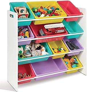 IDMarket - Etagère rangement jouets 4 niveaux multicolore